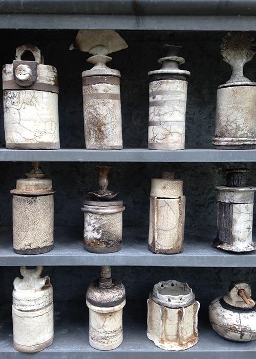 Texelse zeezout potten - Raku gestookt