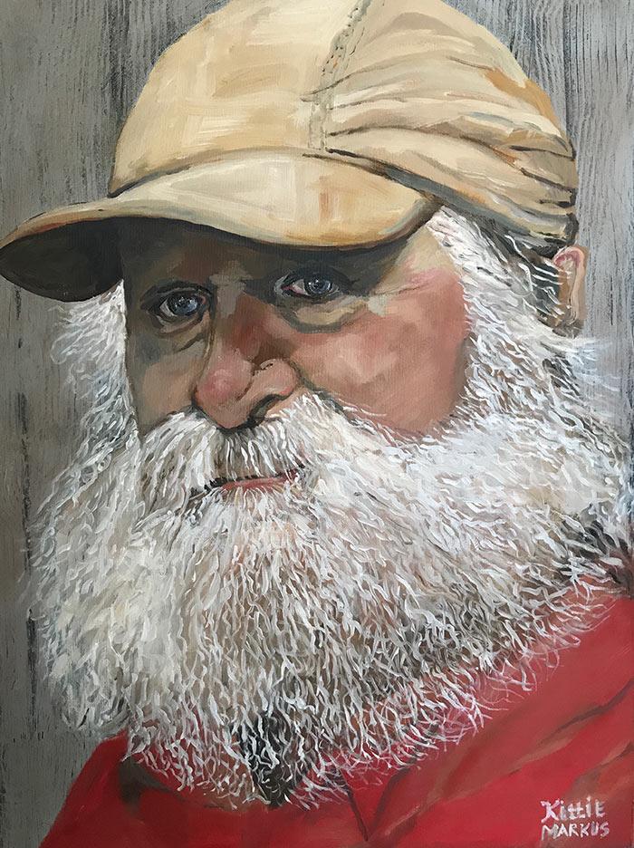 De jutter van Kaap Skil - Acryl op doek - 50 x 70 cm - Kittie Markus