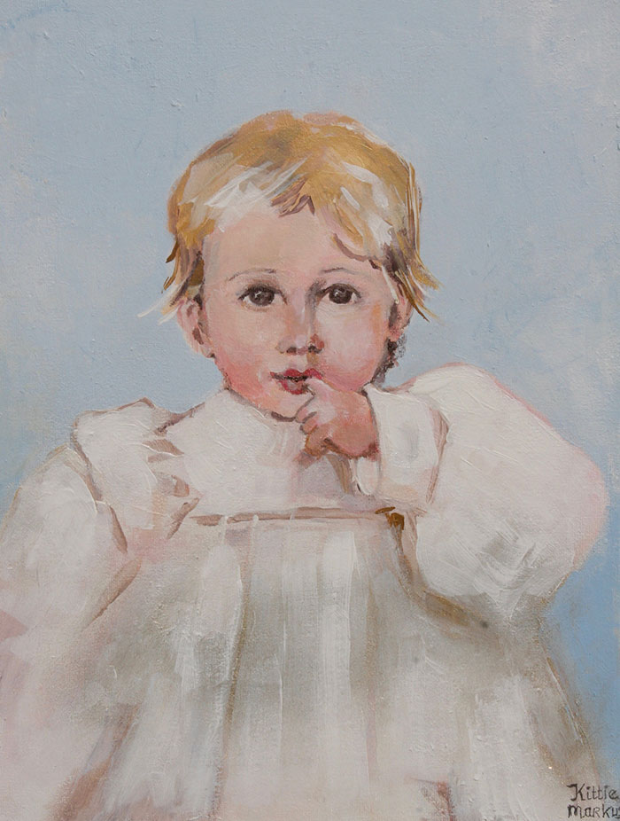 Baby portret - Acryl op doek - 30 x 40 cm - Kittie Markus